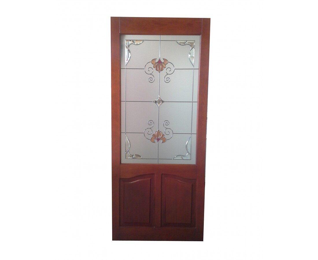 Дверь - массив, Вставка - Витражное стекло