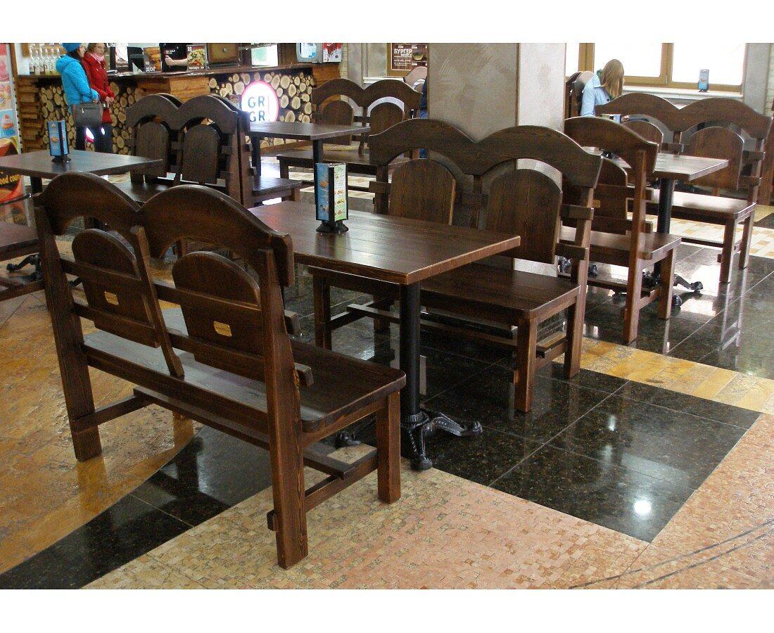 Лавки, столы в ТЦ Центральный